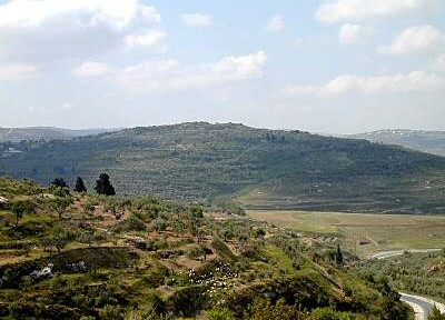 The tell (city mound) at Samaria